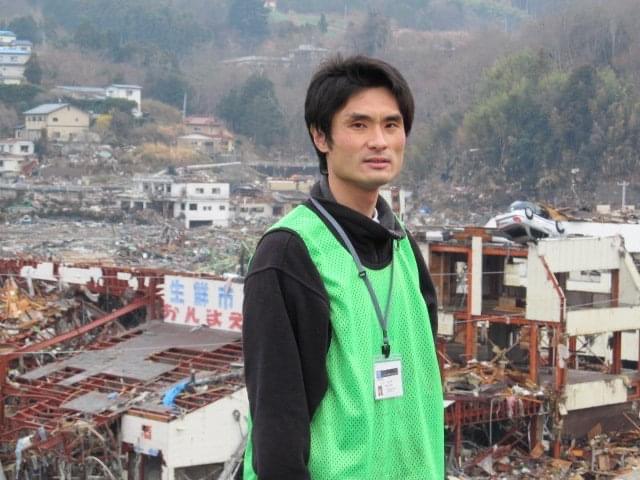 Pastor Yoshiya Hari in Onagawa, Miyagi, after the 2011 Tohoku triple disaster.