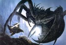 Sam battles Shelob