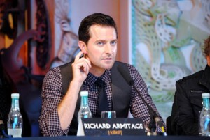 Richard Armitage listens to a question during a press conference before the World Premiere of The Hobbit: An Unexpected Journey in Wellington, New Zealand.