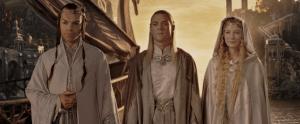 Elrond Celebor and Galadriel