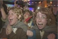 Hobbit fans catching site of Peter Jackson at last year's Wellington Premiere Party