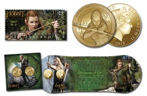 Tauriel and Legolas Stamps and Coins