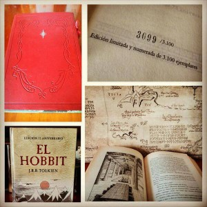 Ringer Nelson's favourite Tolkien book -- a 75th anniversary limited edition copy of The Hobbit.