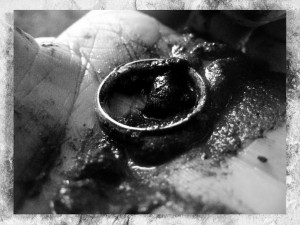The finding of The Ring - monochrome variation