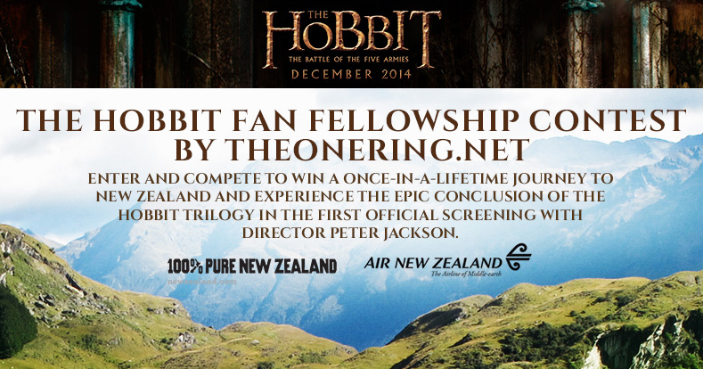 Contest to win a trip to view the final 'Hobbit' film with
