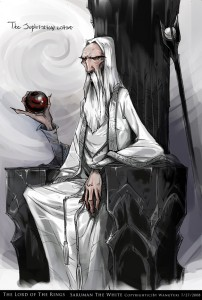Saruman the White by Wangyuxi.
