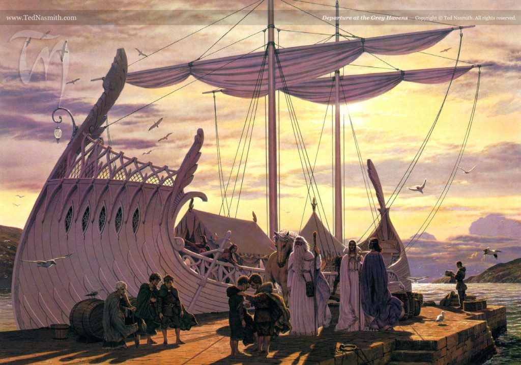 Departure at the Grey Havens, by Ted Nasmith