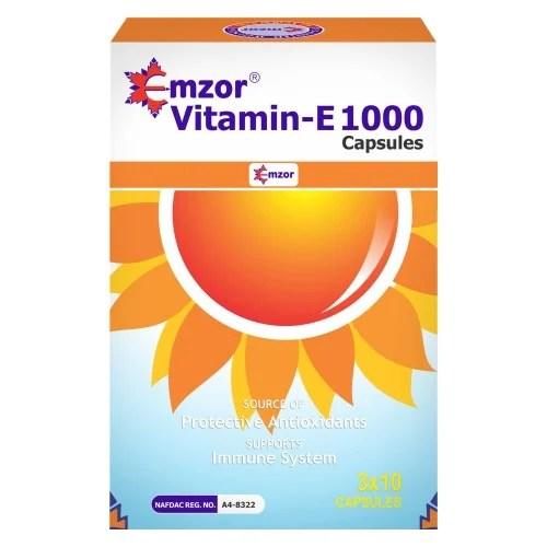 Emzor Vitamin E 1000- Supports Immune System And Skin- 30 Caps   Konga  Online Shopping