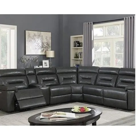 corry leather power reclining 6 pc sectional