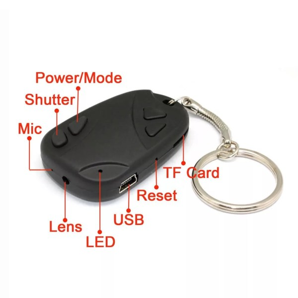 Car Key Holder With Spy Camera