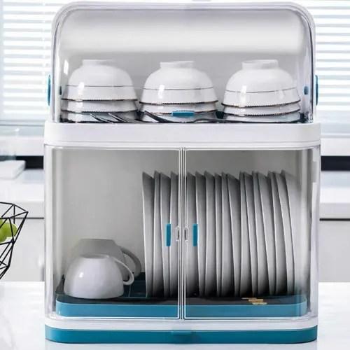 plastic kitchen dish rack cabinet