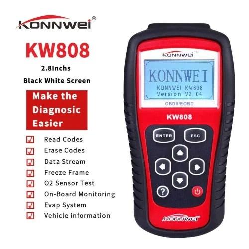A&S Konwei808 OBD OBD2 Automotive Scanner Fault