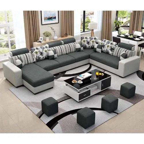 Mak Living Room Furniture Alva Sectional Sofa Centre Table Set Konga Online Shopping