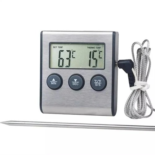 Digital Food Meat Cooking Kitchen Thermometer With Timer