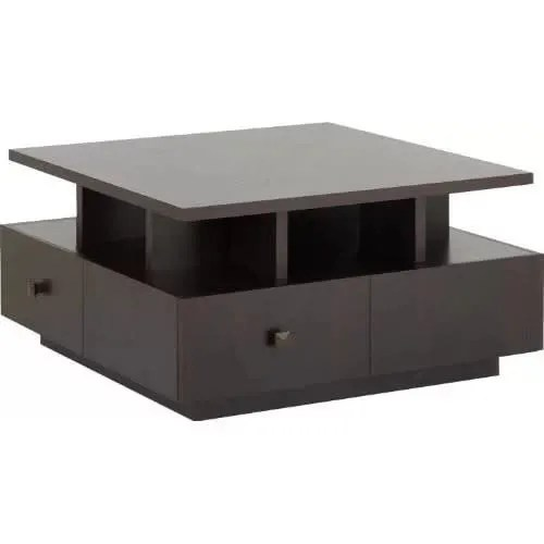 j best venture square coffee table with 4 drawer