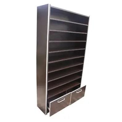 dark brown mdf wooden shoe rack two drawer 9 tiers free bed spread