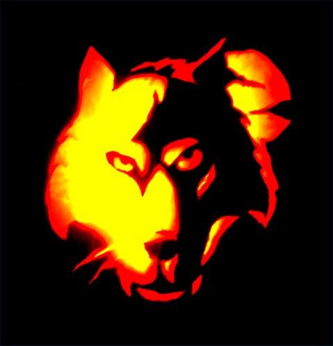 Boo!  It's the Wolf-O-Lantern!