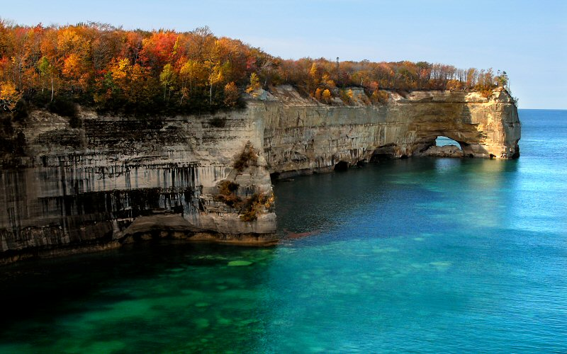 Image result for pictured rocks michigan