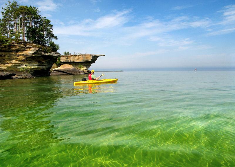 Huron Beach Michigan Rocks Lake