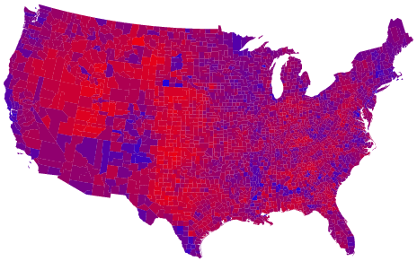 The Purple State Map for 2004. See what Im talking about?