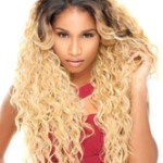 AF-S2-640875 Blonde Wigs Hair African American Tousled Long Curly Synthetic Wigs For Women
