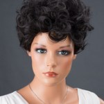 AF-S2-662567 Black Hair Wigs Women's Short Curly Synthetic Wigs