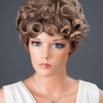 AF-S2-662791 Women's Hair Wigs Taupe Short Layered Curly Synthetic Wigs