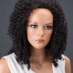 AF-S2-662551 Black Hair Wigs Women's Corkscrew Curls Synthetic Wigs