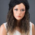 AF-S2-662559 Black Hair Wigs Women's Corkscrew Curls Synthetic Wigs