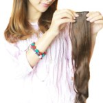 AF-S2-379561 Light Brown Synthetic Long Curly Charming Hair Extensions