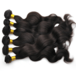 AF-S2-383459 Brownish Black 16 inches 80g Medium Human Hair Virgin Hair Wave