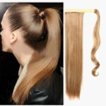 AF-S2-546951 Magic Tape Long Straight Ponytail Extension 24 Inches In multi-Color