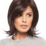 AF-S2-576503 Brown Short Curls at Ends Women's Medium Wig