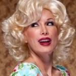 AF-S2-589819 Gold Wig Bangs Curly Short Fiber Wig for Women