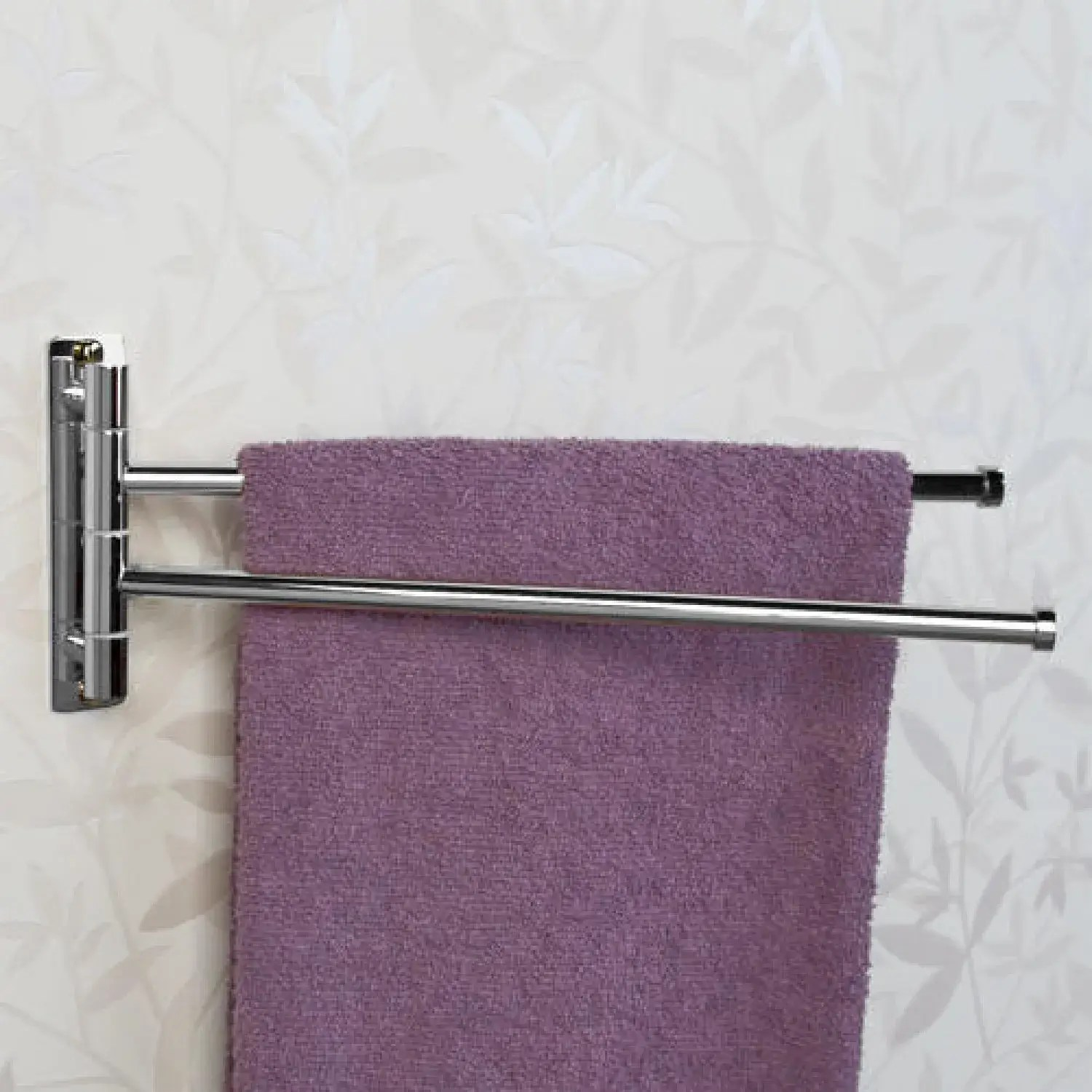 solid brass double swing arm towel bar