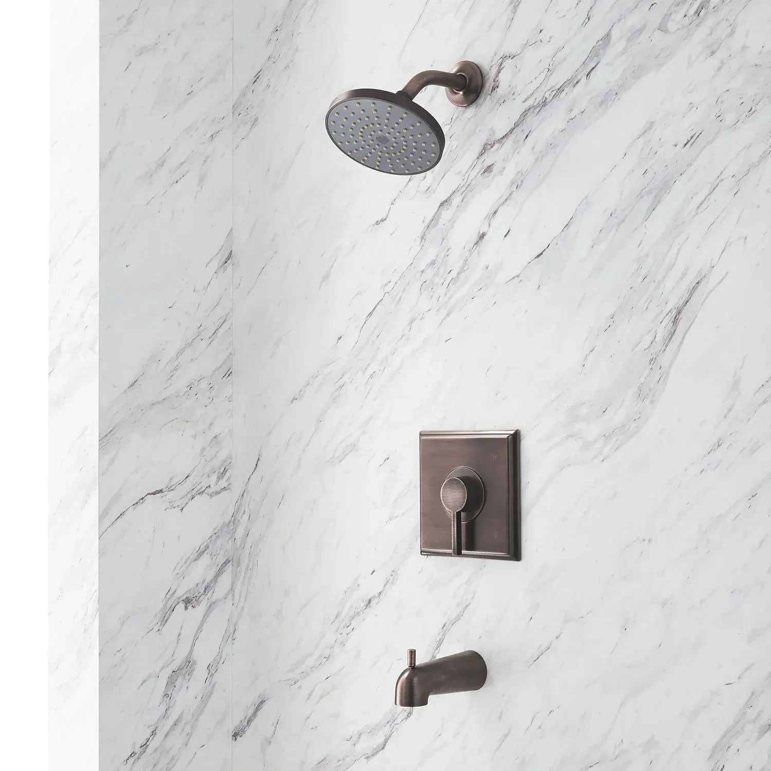 flair pressure balance tub and shower set with lever handle