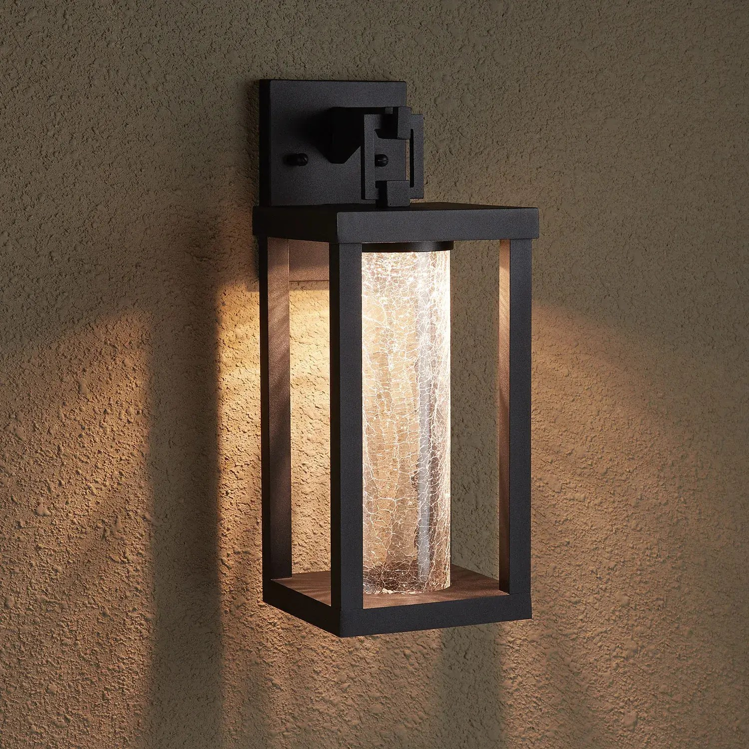 topping outdoor entrance wall sconce single led light black