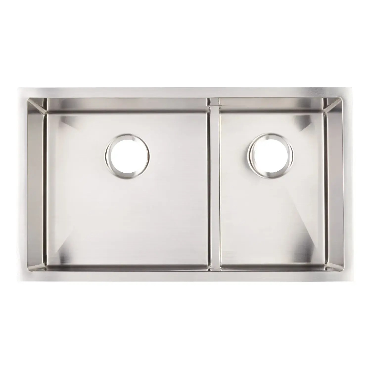 32 ortega 70 30 low divide double bowl stainless steel undermount sink