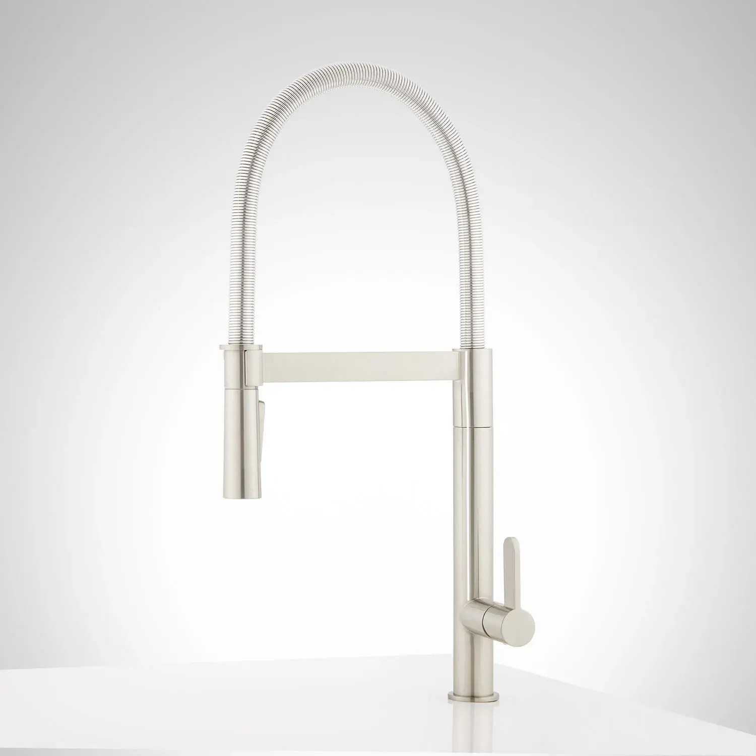 ocala single hole kitchen faucet with pull down spring spout