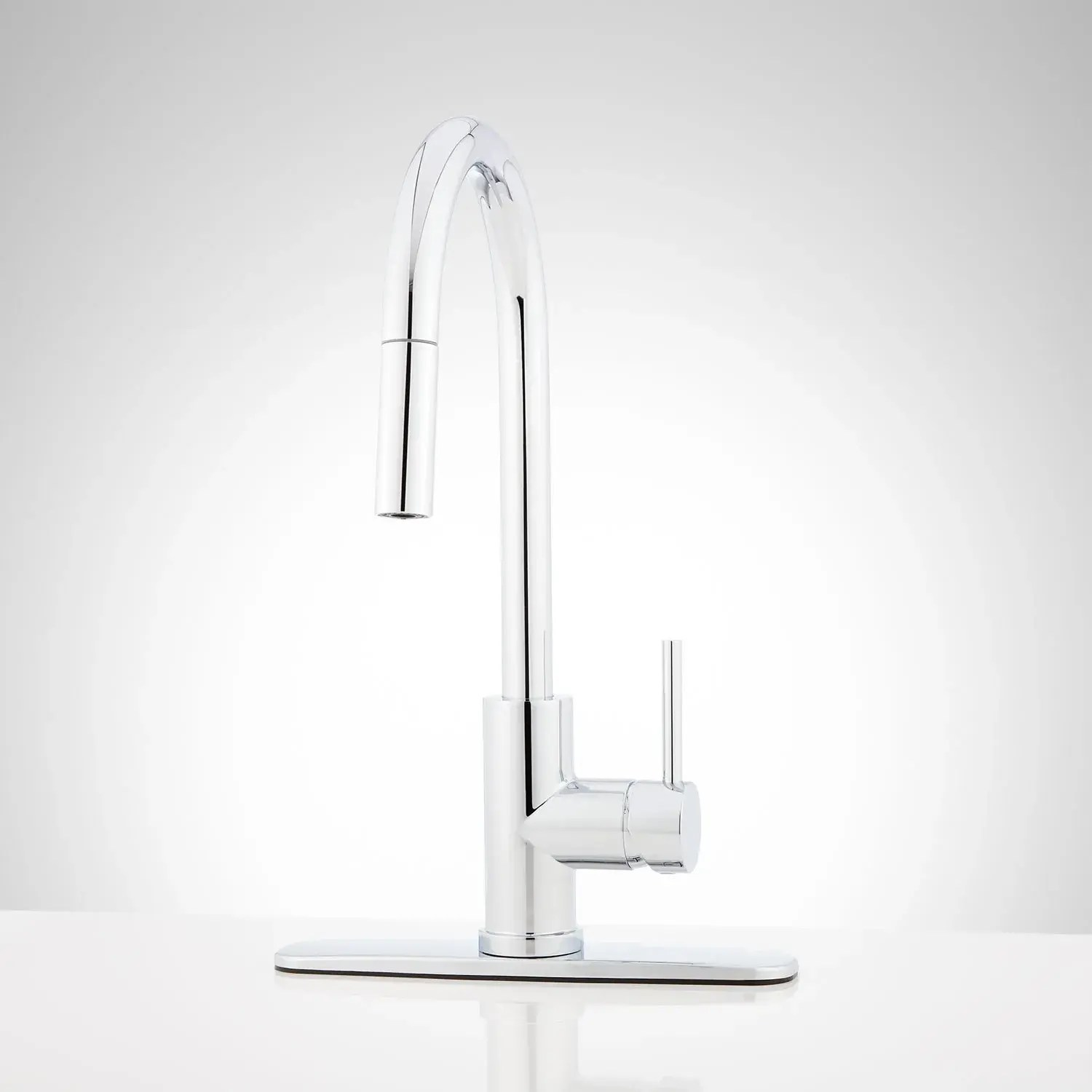 ravenel single hole pull down kitchen faucet with deck plate