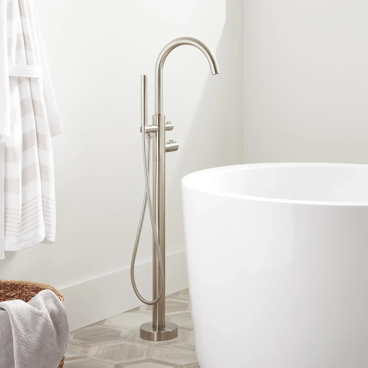 algos thermostatic freestanding tub faucet