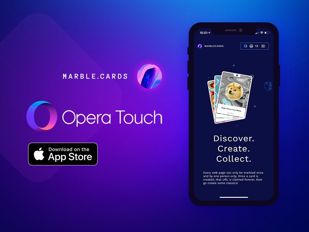 Opera presents Marble.Cards