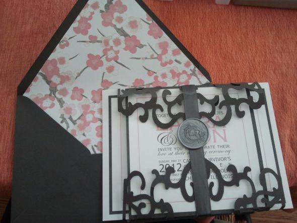 Three Bells Press Cameo Wedding Invitation