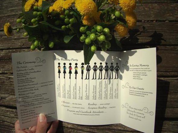Large Wedding Program