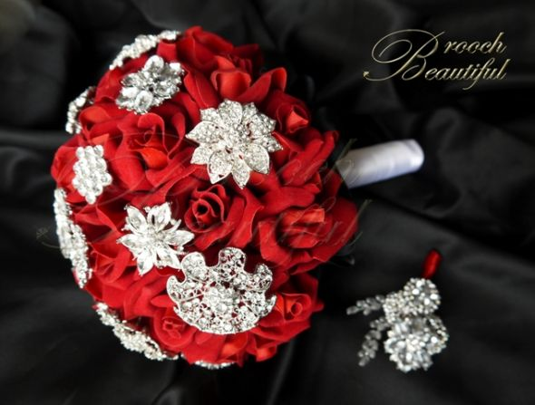 Forever Rose Brooch Bouquet Weddingbee Photo Gallery