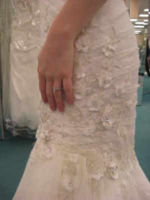Real Brides in David s Bridal Oleg Cassini CWG464  Wedding  April 2013