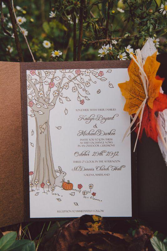 My DIY Fall Wedding Invitations Weddingbee Photo Gallery