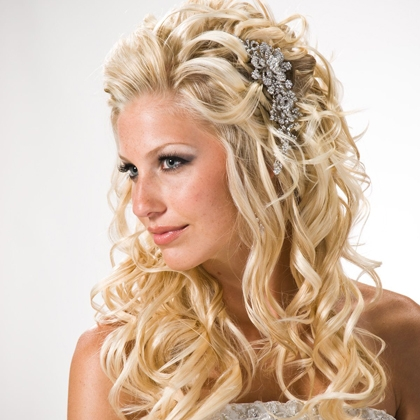 please share your long hair down bridal styles prefer curly hair weddingbee
