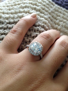 Cushion Cut Micropave Ring With Halo Weddingbee Photo
