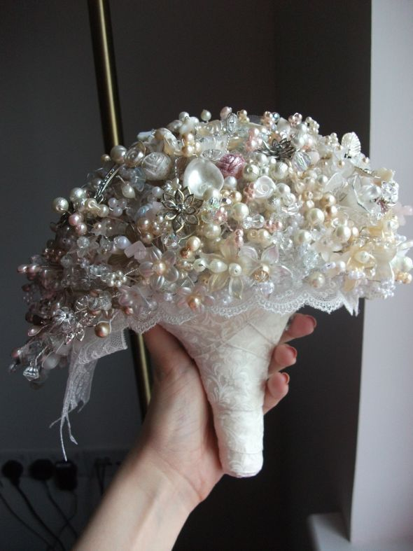 My Bead Brooch Crystal Bouquet Weddingbee Photo Gallery